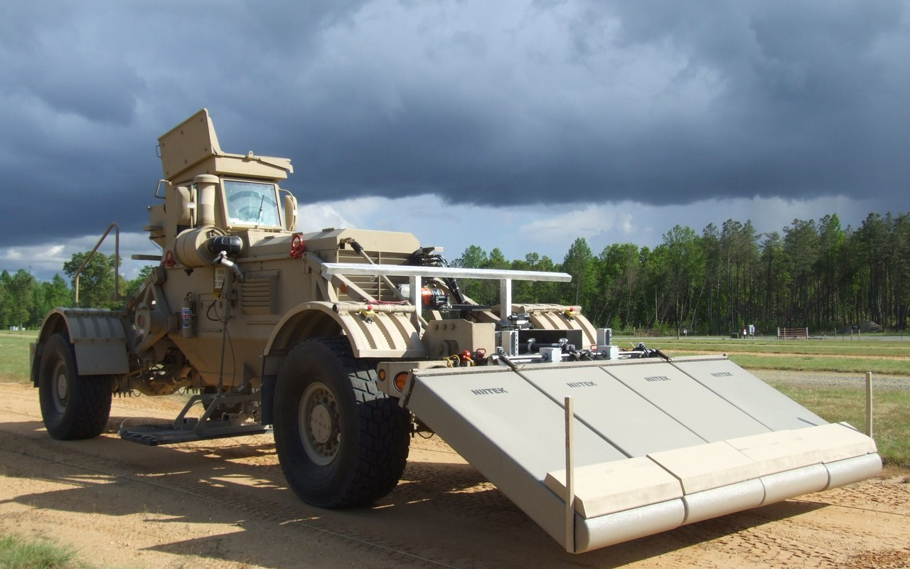Chemring's HDMS system is used to detect buried IEDs