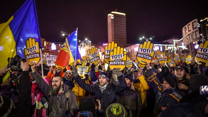 Anti-corruption protests in Romania