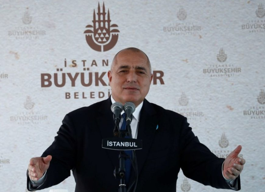 Bulgaria's Prime Minister Boyko Borissov speaks during the re-opening of the St. Stefan Bulgarian Orthodox Church in Istanbul, Turkey, January 7, 2018.