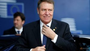 Romania's President Klaus Werner Iohannis arrives to attend a European Union leaders summit in Brussels, Belgium, December 14, 2017.