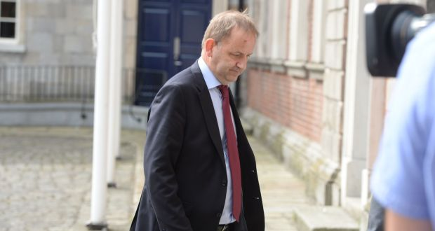 Garda whistleblower Sgt Maurice McCabe arriving on the first day of the Charleton tribunal at Dublin Castle last June. Source: Alan Betson.