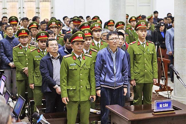 Тринх Сюань Тхан на суде