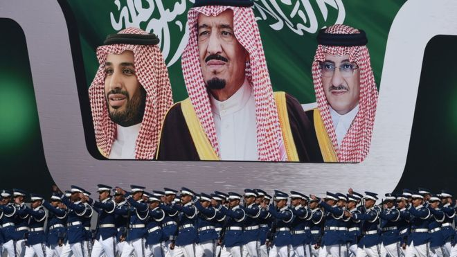 King Salman acceded to the throne in 2015.