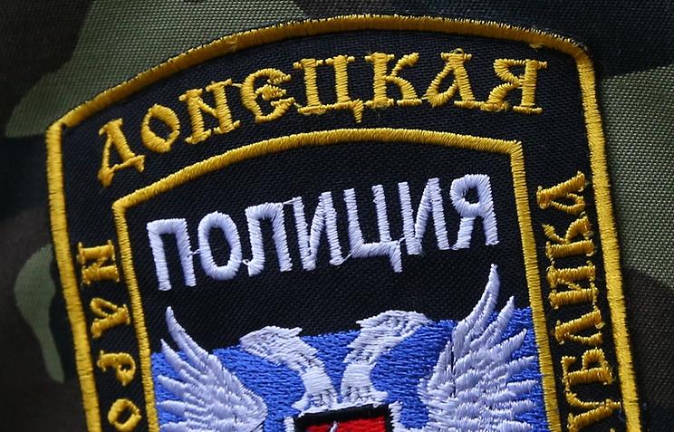 Нашивка на форме донецких полицейских
