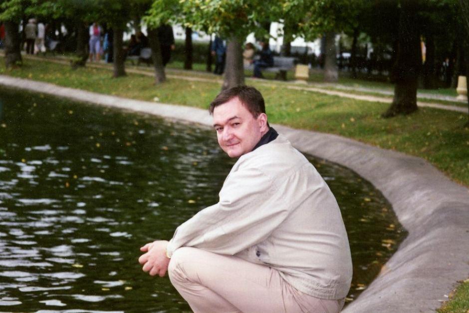Sergei Magnitsky in a park