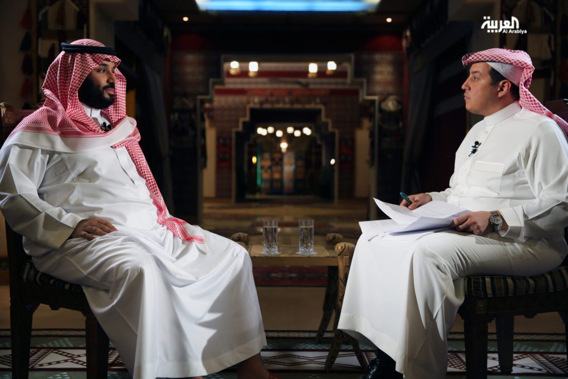 Crown Prince Mohammad bin Salman gives an interview to Al Dakhil