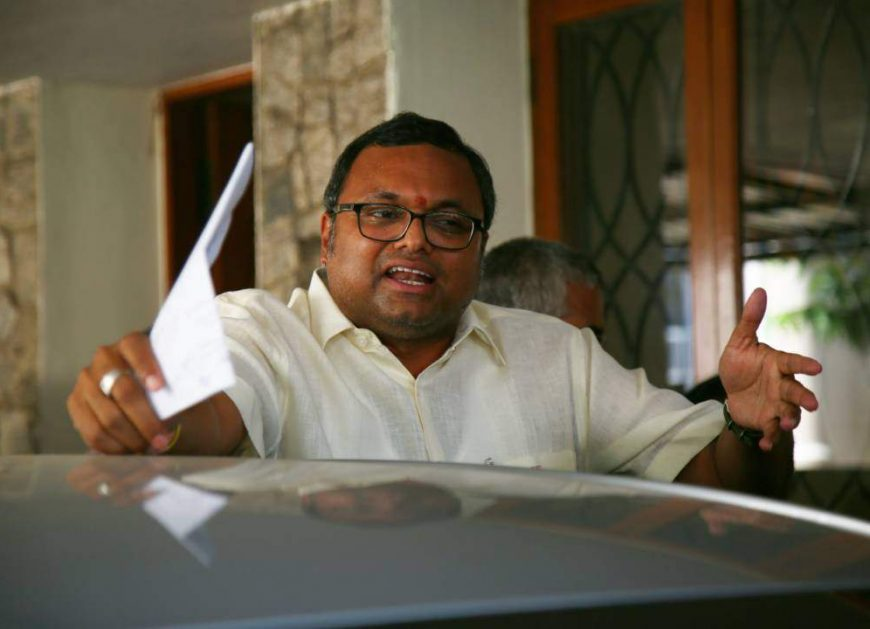 Son of Indian Ex-Finance Minister Karti Chidambaram