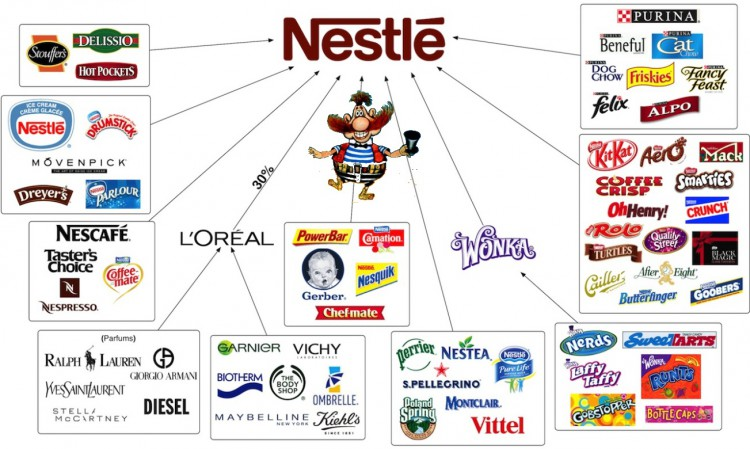 Infographics on Nestle and its products