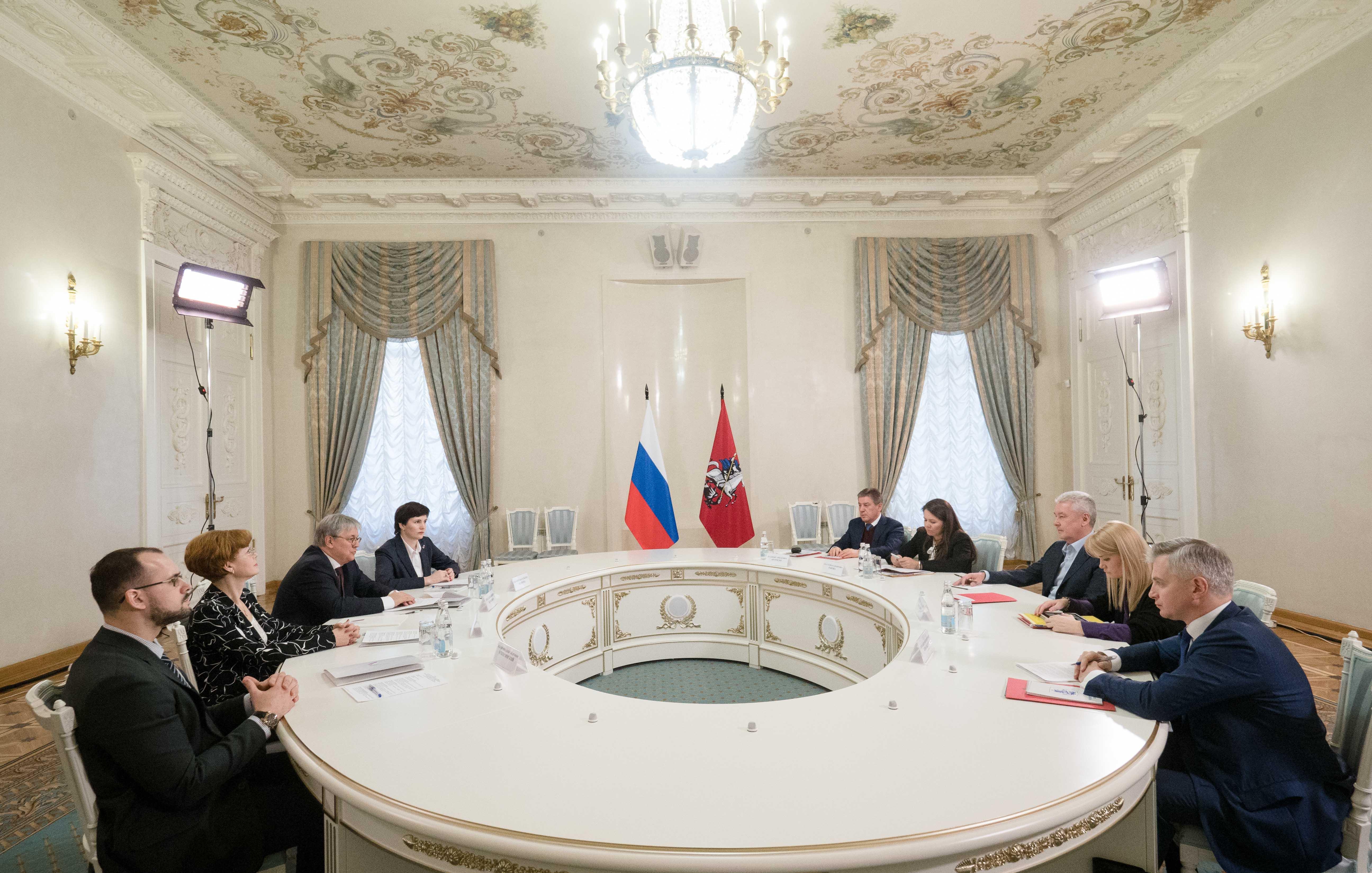 Встреча представителей ОНФ с мэром Москвы Сергеем Собяниным.