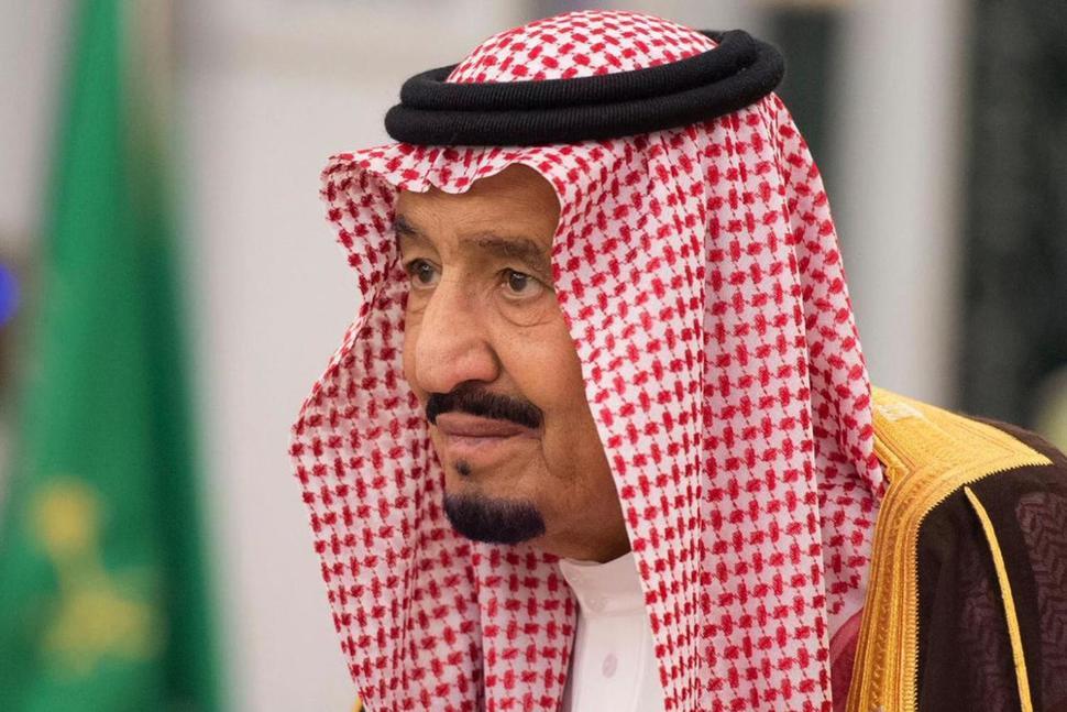 На этом фото король Саудовской Аравии Салман посещает церемонию принесения присяги