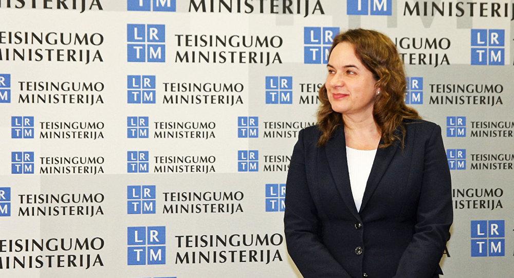 Министр юстиции Литвы Милда Вайнюте
