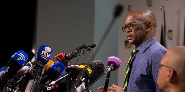 Генсек Африканского Национального Конгресса Эйс Магашуле. Коррупционеров