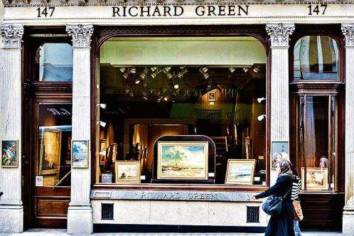 One of Richard Green's two Mayfair galleries. His collection includes paintings by Turner, Constable and Augustus John.