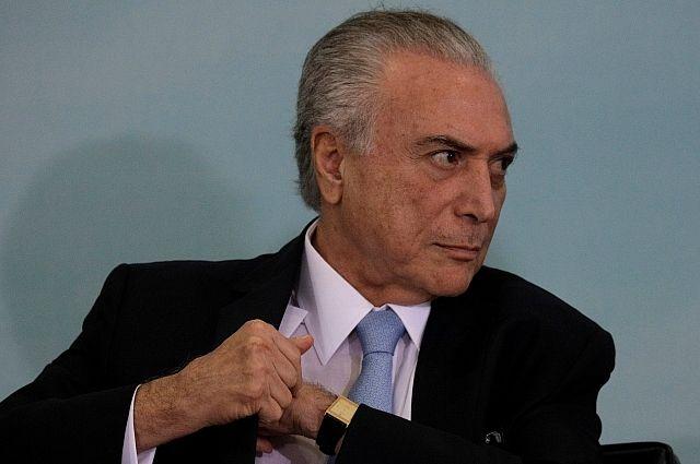 Президент Бразилии, Мишел Темер, коррупция, противодействие коррупции