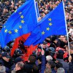 Албания, Албании, коррупция, противодействие коррупции, митинг
