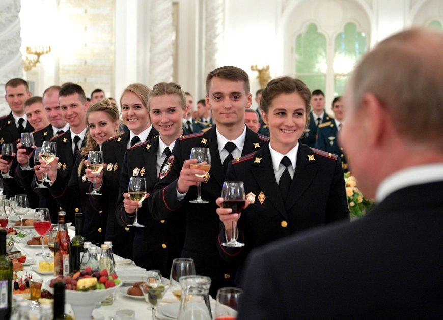 Владимир Путин, Приём в честь выпускников военных вузов